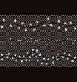 christmas lights string isolated on transparent vector image vector image