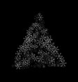 christmas tree from snowflakes on a black vector image vector image