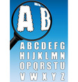 cloud alphabet vector image vector image