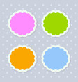 colorful seasonal stickers with scalloped edges vector image