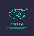 conceptual logo and label cyber eye vector image
