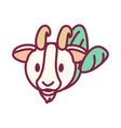 cute zodiac sign icon vector image