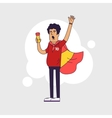 Fan of Spain national football team sports vector image vector image