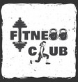 fitness centre for fitness centers vector image vector image