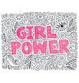 girl power vector image