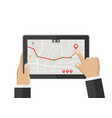 gps map location search application vector image