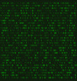 green matrix abstract background with programming vector image