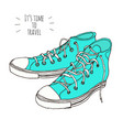 hand drawn sneakers vector image vector image