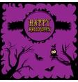happy halloween card design template vector image vector image