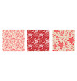 holiday floral patterns set vector image