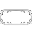 horizontal frame Element for design vector image vector image