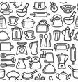 kitchen tools pattern cooking set kitchenware vector image