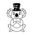 koala with hat australian celebration vector image