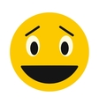 Laughing smiley face icon flat style vector image