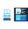 logotype website on laptop screen icon isolated on vector image vector image