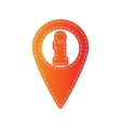Map pointer with information sign Orange applique vector image vector image
