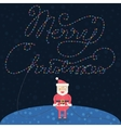 Merry Christmas Christmas card with Santa Claus vector image vector image
