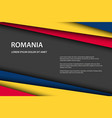 modern background with romanian colors and grey vector image vector image