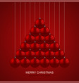 modern christmas balls creative background vector image vector image