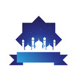 mosque background vector image
