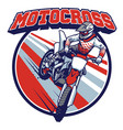 motocross badge design vector image vector image
