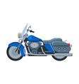 motorcycle cruiser motor bike vehicle side view vector image