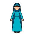 Muslim woman avatar character