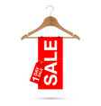 one day sale sign on a wooden hanger vector image vector image