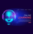 online learning education landing page or banner vector image