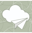Paper Plane and Cloud Background vector image vector image