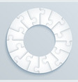 parts of paper puzzles in the form of a circle vector image vector image