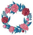 peonies wreath vector image