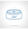 Pouf blue flat line icon vector image