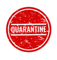 quarantine text with isolated white background vector image vector image