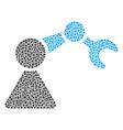 robotics manipulator collage of dots vector image