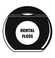 round box floss icon simple style vector image