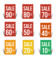 Sale percent sticker price tag flat design vector image vector image