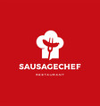 sausage chef hat logo icon vector image