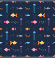 seamless pattern with underwater world with fish vector image vector image