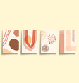 set abstract minimalistic typography with hand vector image