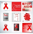 Set AIDS poster vector image vector image