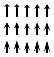set arrows to guide pointer arrow vector image vector image