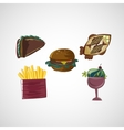 Set color sketches icons of food vector image vector image