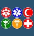 set medical international symbols decorated in vector image vector image