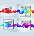 set of faceted geometric abstract banners vector image