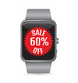 Smart watch sale icon vector image