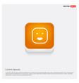 smiley icon face icon orange abstract web button vector image vector image
