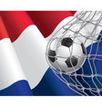 Soccer goal and Netherlands flag vector image vector image