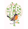 Spring Banner with a Bird vector image vector image