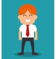 successful businessman with growth icon vector image